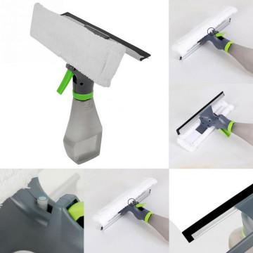 Скребок для мытья окон с микрофиброй и спреем Easy Glass 3 в 1
