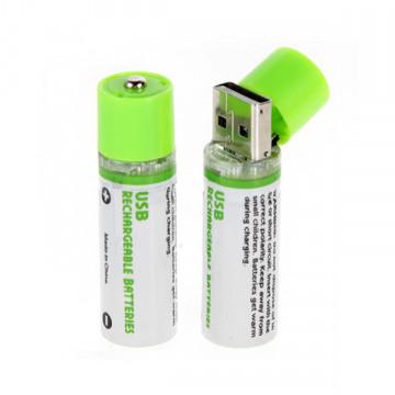 Аккумуляторные Батарейки со Встроенной USB зарядкой 2 шт.