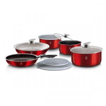 Набор Посуды Berlinger Haus Metallic Line Burgundy Edition-9 предметов