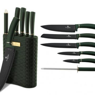 Набор Ножей с Подставкой Berlinger Haus Emerald Collection-7 предметов