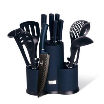 Набор Кухонных Принадлежностей и Ножей 2 в 1 Berlinger Haus Aquamarine- 12 предметов