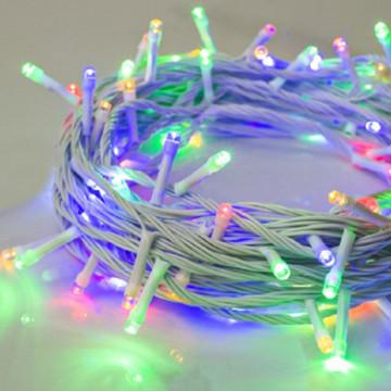 Белый-провод- Разноцветная Гирлянда на Елку-9 м