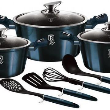 Набор посуды Berlinger Haus Metallic Line AQUAMARINE Edition 10 пр.